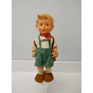 "M J Hummel School Boy Vinyl Doll 12"" Tag"